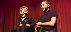 New Jersey Magician | Matt Cadabra on stage at a ventriloquist show.